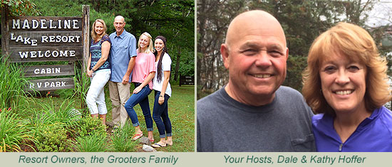 Your hosts, the Grooters Family