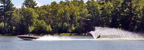 Water skiing on Madeline Lake